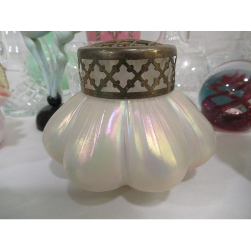 32 - Decorative glassware: to include art glass vases various colours, sizes & forms