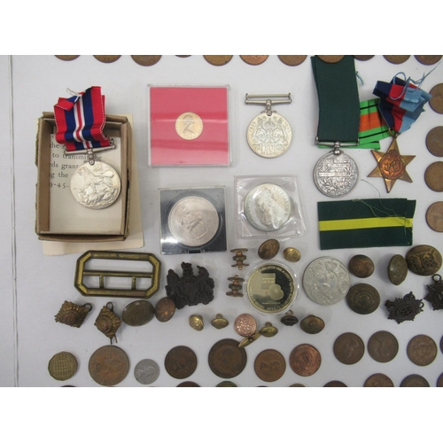 35 - Coins and medals: to include a Victorian Long Service medal in the Volunteer Force, belonging to one...