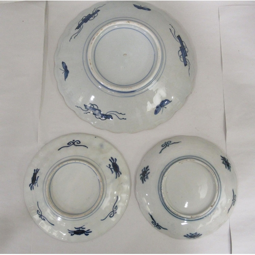 38 - 19th & 20thC Oriental ceramics: to include a pair of 1960s Japanese Imari porcelain wavy edged p...