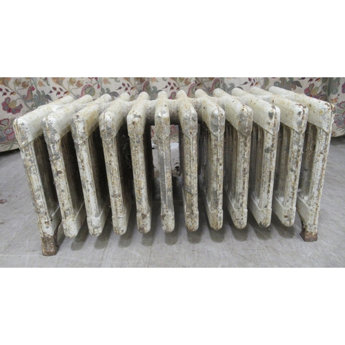 53 - Two early 20thC painted iron, water filled radiators 31