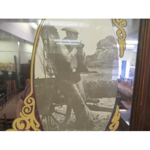 58 - A branded printed promotional pub mirror 'Malboro' 16