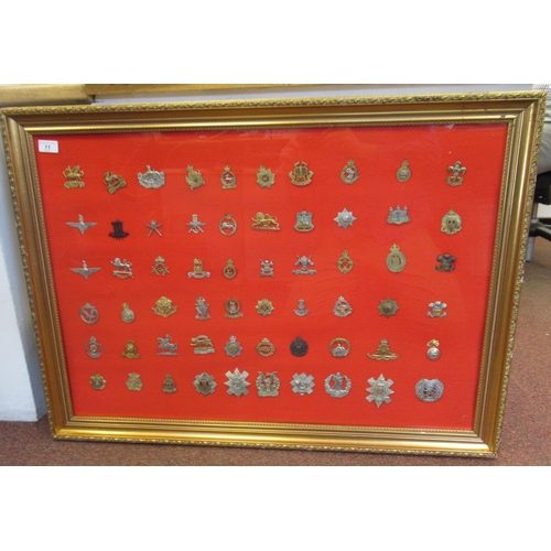 11 - Sixty military regimental cap badges and insignia, some copies: to include The Wiltshire Regiment, T...