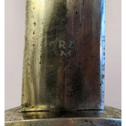 16 - A German Third Reich SA (Sturmabteiling) dress dagger with a waisted handgrip and emblems, the blade...