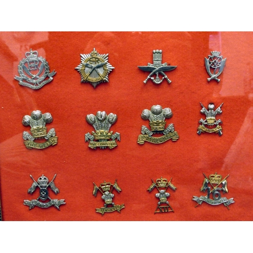 24 - Twenty military regimental cap badges, some copies: to include The Buffs, First Life Guards and Roya...