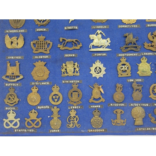 30 - Approx. fifty military cap badges and other insignia, some copies: to include The Lancashire Hussars...