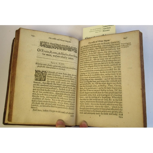 31 - Book: 'Via Recta and Vitam Longam' by Tobias Venner, printed by R Bishop for Henry Hood 1638