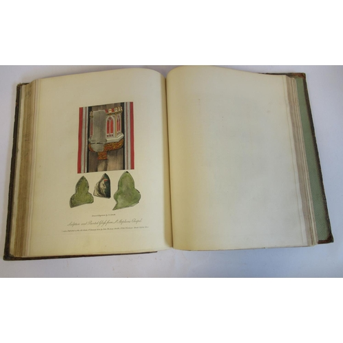 40 - Book: 'Antiquities of Westminster, The Old Palace, St Stephen's Chapel etc' by John Thomas Smith wit...