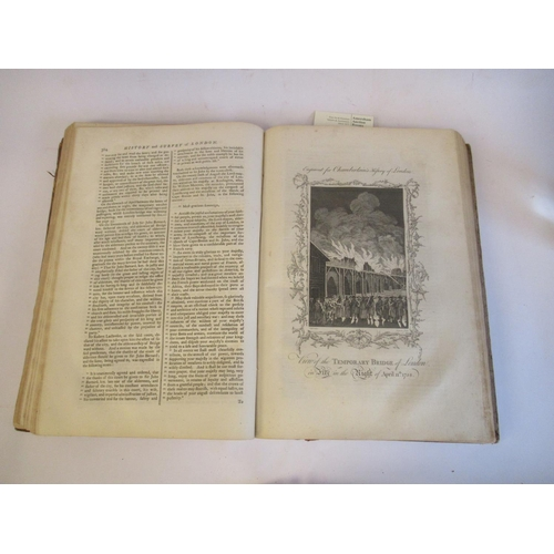 41 - Book: 'History and Survey of the Cities of London and Westminster' by Henny Chamberlain with plates ...