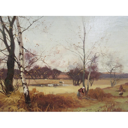 6 - William Manners - 'An Autumn landscape'oil on canvasbears a signature & ...