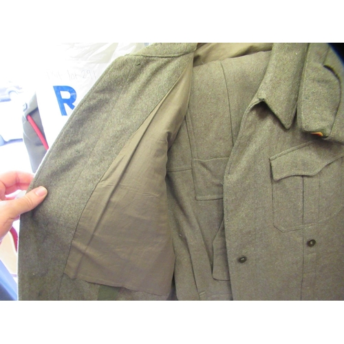 36 - Three British and two German military uniforms: to include Royal Engineers