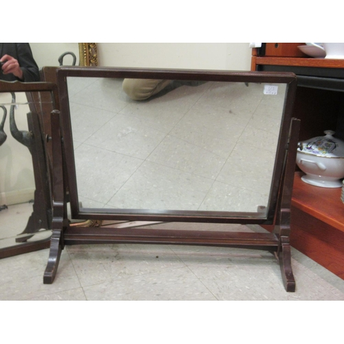 41 - Mirrors: to include an Edwardian example with line-cut decoration, in a mahogany frame 22