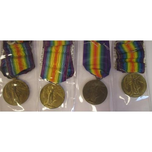 18 - Twenty-one Great War 1914-1918 British service medals on ribbons, viz. 46481, Gnr. E. Williamson RA;...
