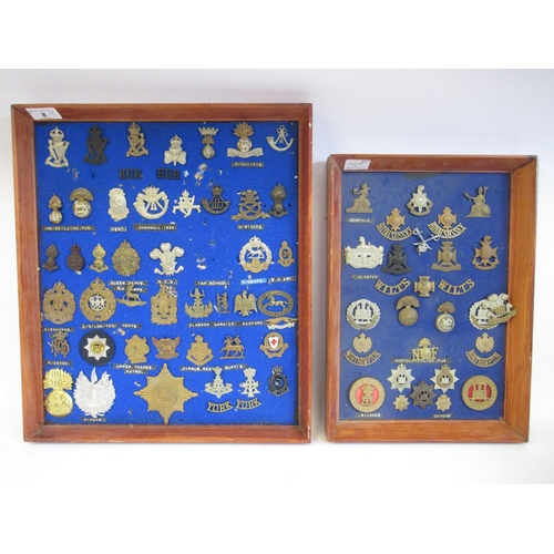 8 - Approx. sixty military cap badges and other insignia, some copies: to include Cinque Ports, The Norf...