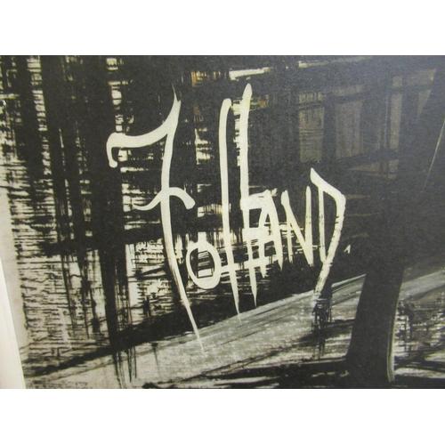 21 - Folland - an abstract street scene coloured print 21