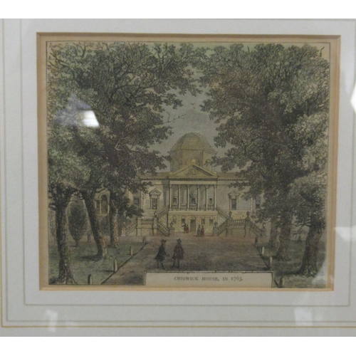 27 - Pictures: to include a study of Chiswick House in 1763 print 5