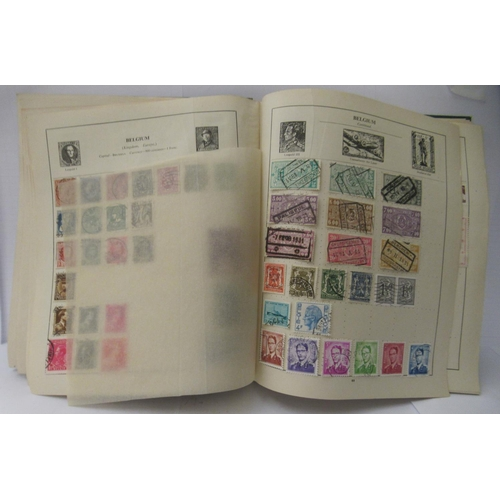 32 - A 'schoolboys' uncollated album collection of postage stamps: to include British Empire and Commonwe...