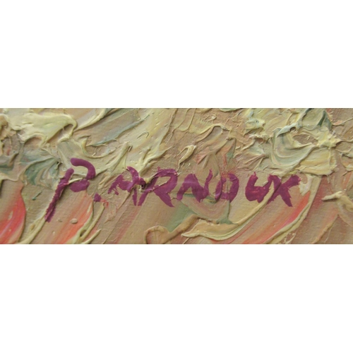 8 - P.Arnoux - an agricultural landscape with hills beyond oil on canvas bears a signature&n...
