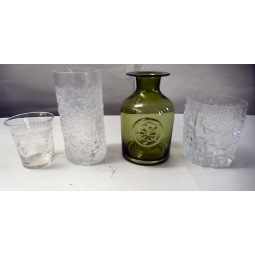 16 - Bark effect Whitefriars cordial and other drinking glasses