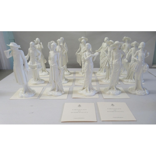 21 - Fifteen Royal Worcester porcelain figures 'The 1920s Vogue Collection' 8-9