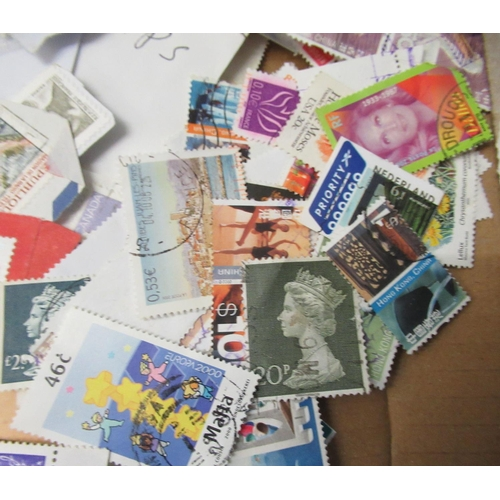 24 - Uncollated, mainly used British postage stamps and First Day covers; and other European issues