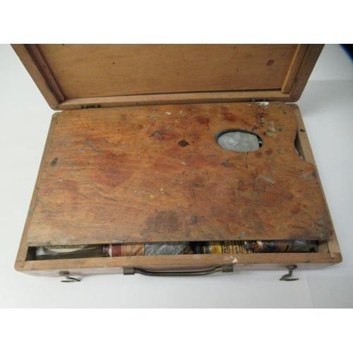 26 - An Edwardian mahogany artists box 3
