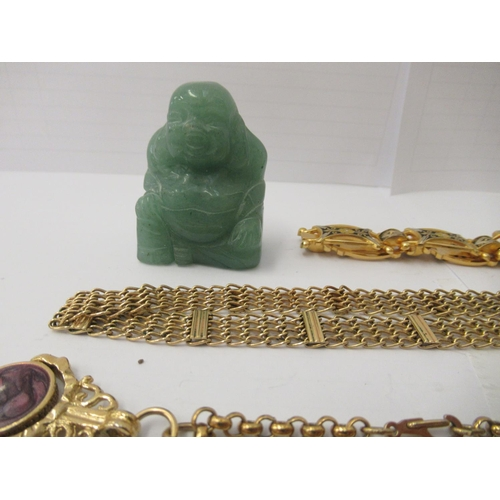 28 - Personal ornament and collectables: to include a silver hinged bangle; and a yellow metal fob watch&...