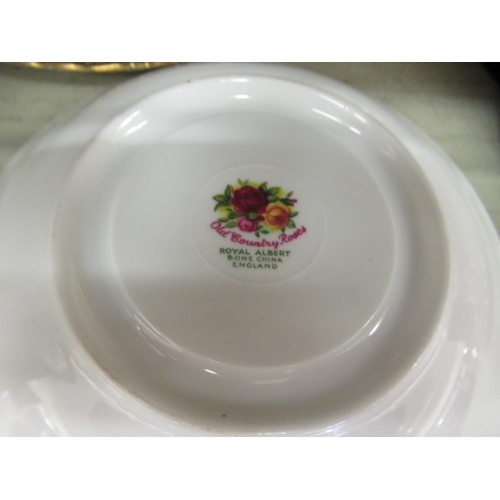 34 - Six Royal Albert bone china Old Country Roses pattern trios