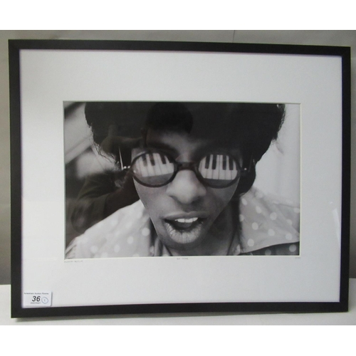 36 - 'Sly Stone' by Murphy Neimich - a Limited Edition 359 photographic monochrome print bears a pencil ...