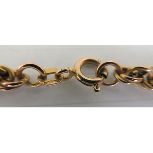 43 - An Italian 9ct gold ropetwist design necklace