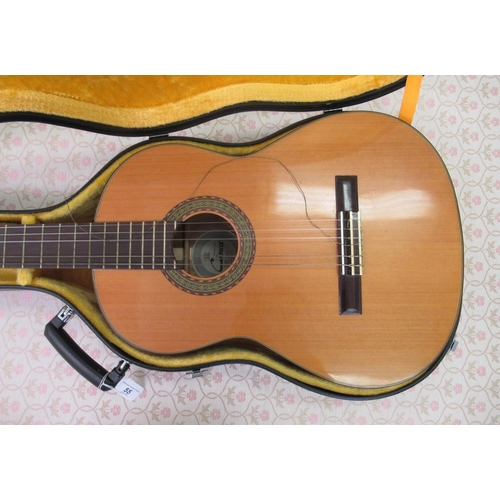 55 - A Japanese made Cimar accoustic guitar, model no.362 bears a label cased