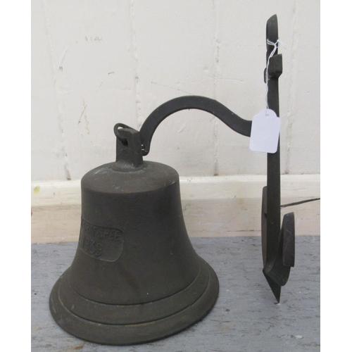 60 - A 20thC cast metal ship's bell 8