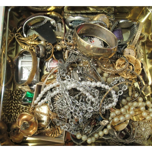 9 - Costume jewellery, watches and items of personal ornament: to include a lady's Omega automatic wrist...