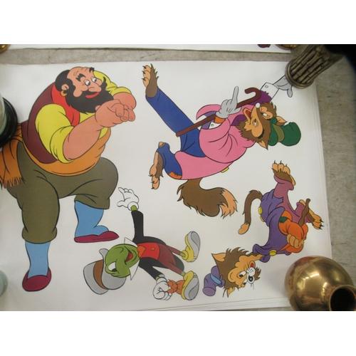 43 - Twelve circa 1978 Disney themed colour printed posters 22'' x 45''