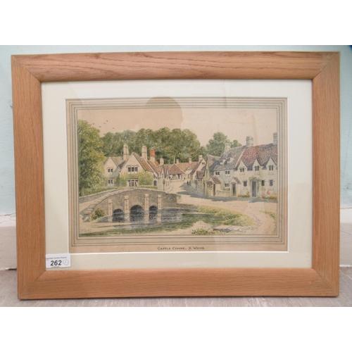 17 - G Terrence Bull - 'Castle Combe, North Wiltshire' watercolour bears a signature & da...