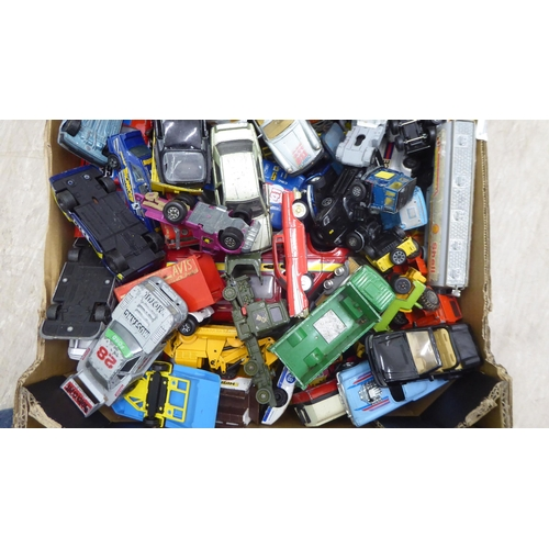 23 - Uncollated diecast model vehicles: to include sports cars, public transport and trucks, mainly Match...