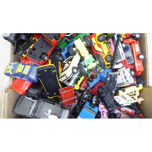 24 - Uncollated diecast model vehicles: to include sports cars, public transport and trucks, mainly Match...