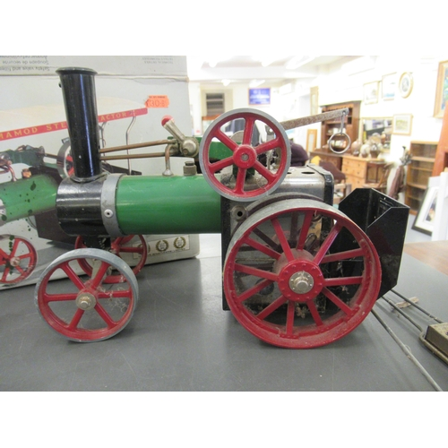 30 - A Mamod live steam model tractor boxed with original pamphlet
