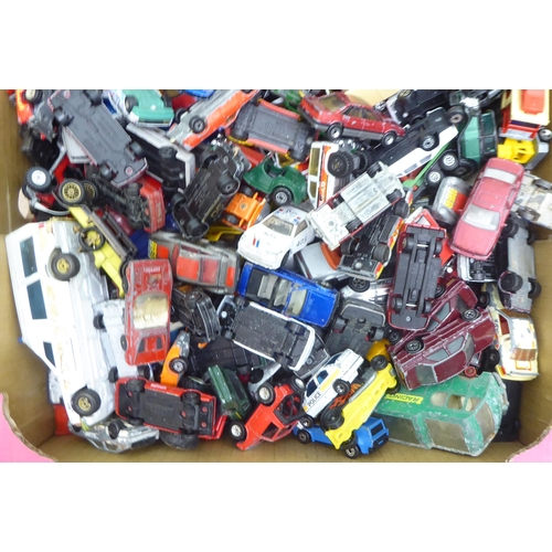 36 - Uncollated diecast model vehicles: to include sports cars, emergency service and vintage delivery, m...