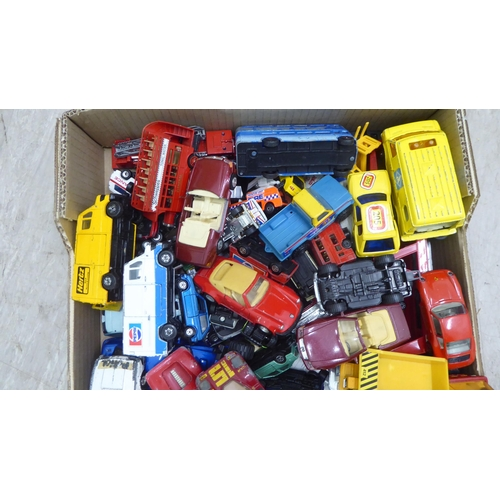 37 - Uncollated diecast model vehicles: to include sports cars, emergency service and vintage delivery, m...