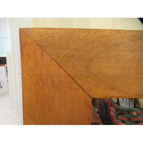 5 - A modern fruitwood framed dressing mirror 57'' x 27''