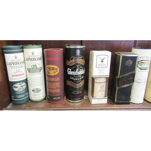 50 - Boxed and unboxed whiskey miniatures: to include The Balvenie aged 10, 12 and 15 years trio pack and...