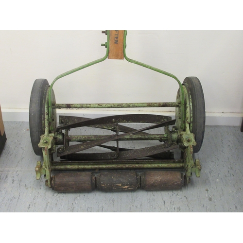 10 - A mid 20thC push-along Folbate lawnmower with an 11.5