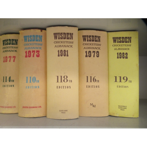28 - Books: nine editions of 'Wisden Cricketer's Almanac' published 1969 - 1984