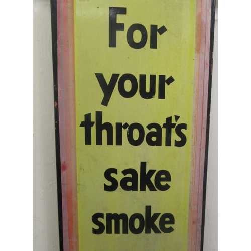 31 - An early 20thC printed steel enamel advertising sign for 'Craven A Cigarettes' 38
