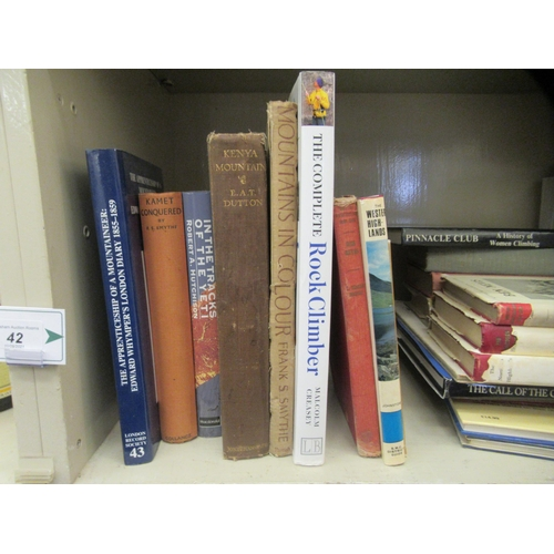42 - Books, mountaineering and associated activities: to include 'Kenya Mountain' by EAT Dutton; and 'Kam...