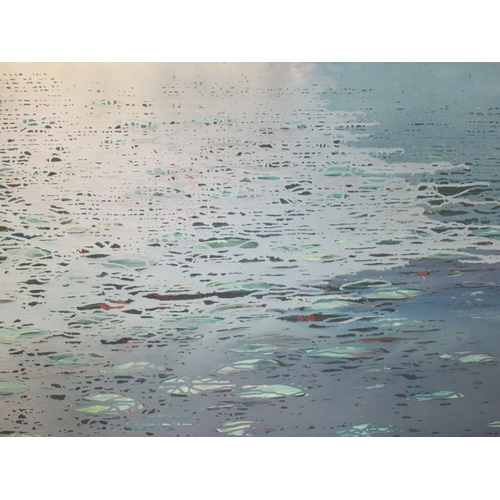 48 - Luke Elwes - 'Aquaterra' oil on canvas bears a signature, a title verso & dated 2021/13 53