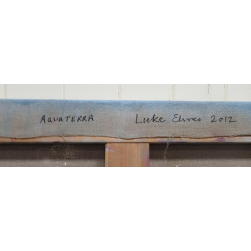 49 - Luke Elwes - 'Aquaterra' oil on canvas bears a signature, a title verso & dated 2021/13 36