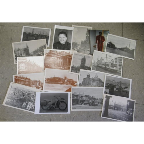 60 - Early 20thC and later ephemera: to include monochrome photographic prints featuring rock and pop sta...