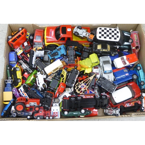 46 - Uncollated diecast model vehicles, recovery, emergency services, sports cars and convertibles: to in...