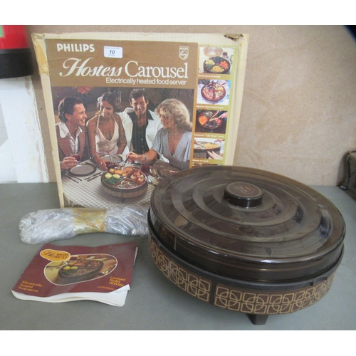 10 - A 1970s Philips heated hostess table carousel boxed